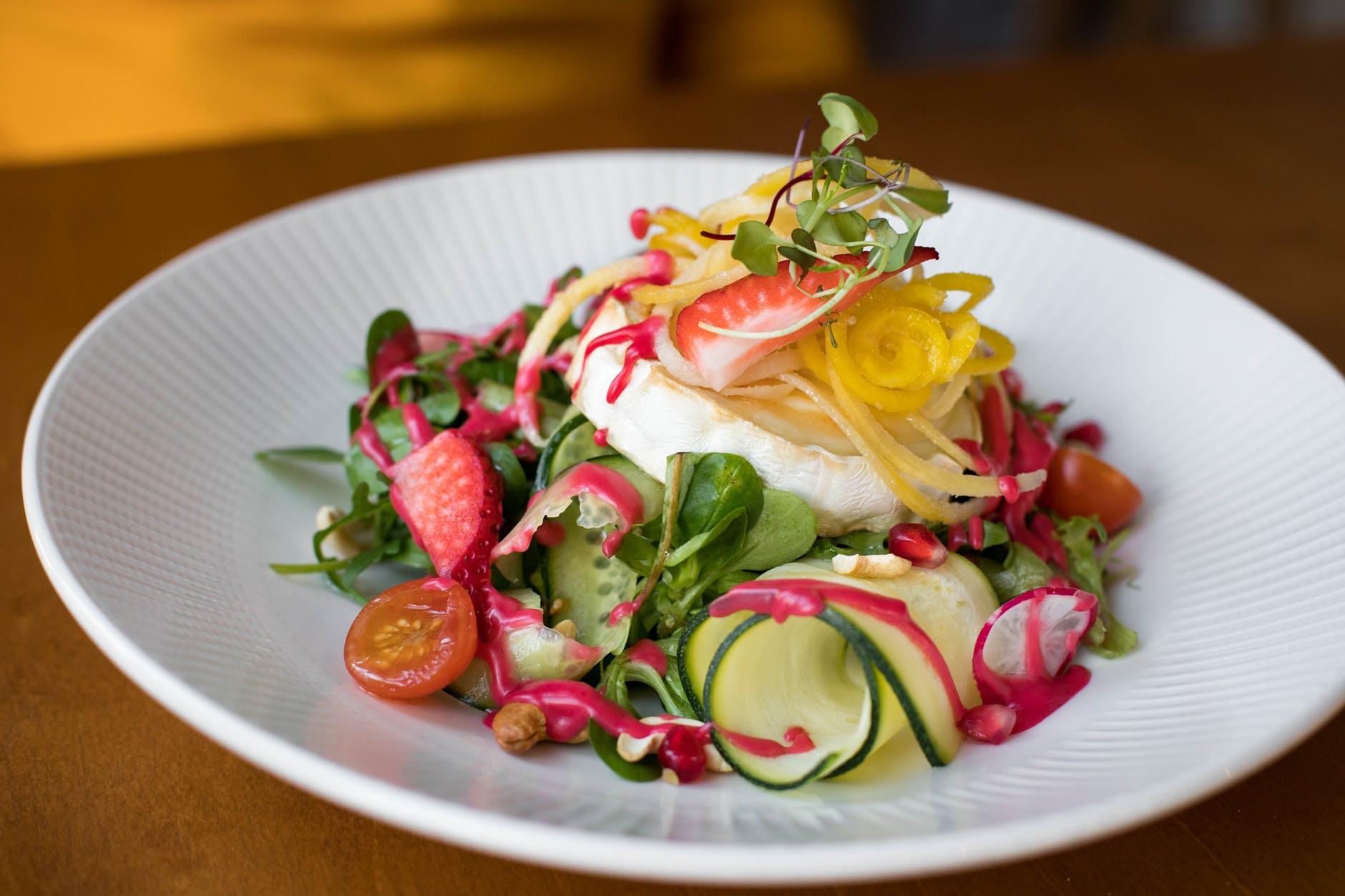 photo of salad on plate