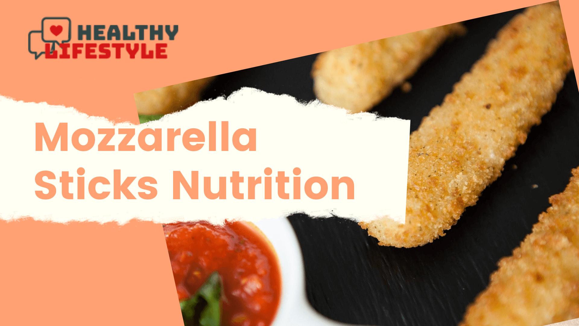 mozzarella sticks nutrition
